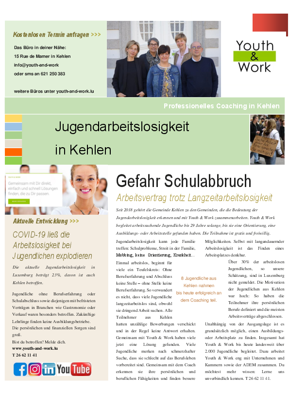 Youth & Work ¦ INFO